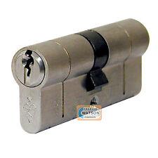 40/40 NICKEL Anti Snap Pick Bump Drill British Standard Euro Cylinder Door Lock