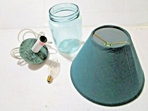 Canning Jar Lamp Kit NEW Everything included Electric cord Jar Shade & Bulb.