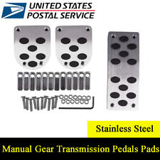 3Pcs Universal Manual Gear Transmission Pedals Pads Car Gas Brake Pedal Non-Slip