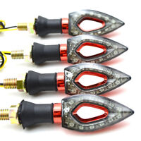 4X ABS Clignotants moto à Led Rouge Lights For Suzuki GSX-R600 Honda CBR600RR