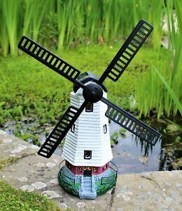 Garden Windmill Ornament Solar Power Light Decoration Outdoor Light up