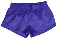 Purple Shiny Short Nylon Shorts by Soffe - Size XL
