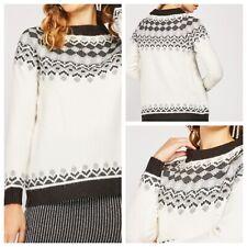 Damen Weiß Pullover Größe XL Bonprix collection langarm Sparkle Neu NWOT ?