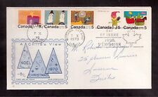 CANADA 1970 FIRST DAY COVER #523a se-tenant strip of 5, CHRISTMAS !!