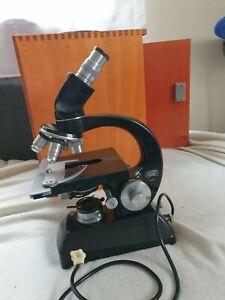 Steindorff Berlin Mikroskop im Holzkasten mit Zubehör