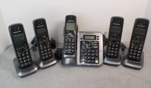 Panasonic KX-TG7641 DECT 6.0 Link-to-Cell Cordless Phone Set - 5 Handsets