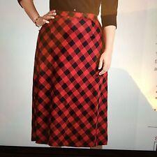 Talbots Women's Skirt - Buffalo-check Riding Skirt - Size 20