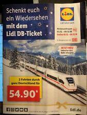 1x Lidl Bahngutschein DB Bahn Ticket gültig bis zum 07.04.2019für IC ICE