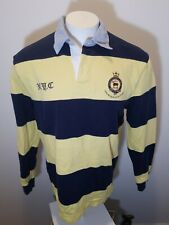 Men's XL Custom Fit Polo Ralph Lauren L/S Striped Rugby Shirt,Equestrian Logo