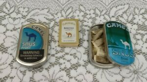 2 Original Camel Snus Frost Tin Cans & Camel Special Lights Matches