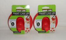Set 2 New Shur-Line Paint Can Lids – Fits Most 1 Quart Paint Cans