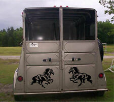 Set of 2 Running Horse Stickers for Horse Trailer or Truck Vinyl Decal Stickers