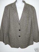 NWT Womens Ralph Lauren Wool Tweed Blazer Sport Coat Jacket 22W Plus NEW $335