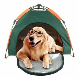 Outdoor Pet Tent Automatic Foldable House Dog Rainproof Sunscreen Cage Bed  Camp