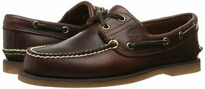 Men's Timberland Classic 2-EYE BOAT SHOES, TB025077 214 Multiple Sizes Root Beer