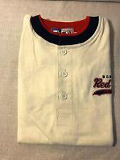 M Mens Starter Short Sleeve Embroidered Boston Red Sox Baseball Logo T Shirt