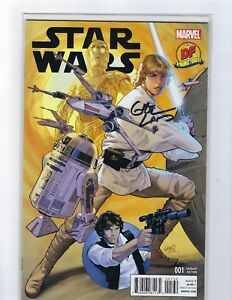 Star Wars # 1 Dynamic Forces Cover NM Signed Greg Land COA Marvel