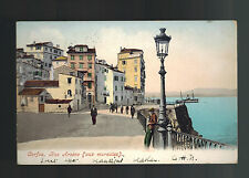 1906 British Post office Constantinople Turkey RPPC Cover to England Corfu View