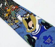 Looney Tunes Toronto Maple Leafts Tie Taz Tasmanian Devil NHl Hockey Necktie