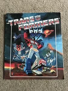 PANINI THE TRANSFORMERS INCOMPLETE STICKER ALBUM HASBRO INC. 1986 PUBLICATION