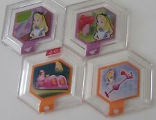 4x Disney Infinity Power Disc 2.0 Alice Caterpillar Ride & 3x 1.0 Wonderland,Sky
