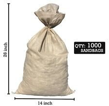 SAND BAGS (Qty: 1000) Beige - Sandbags For Flooding- Wholesale Bulk by Sandbaggy