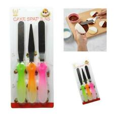 3pc Stainless Steel Spatula Palette Knife Set Cake Decorating Smooth Tools Kit