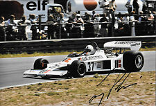 Larry Perkins SIGNED 12x8 , F1 Boro-Ensign N175 , Dutch GP  Zandvoort 1976