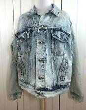 New listing Expressions Vintage Acid Wash Blue Denim Jean Jacket Size Large