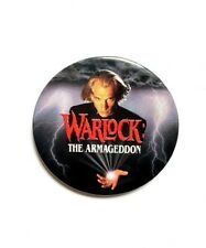 VINTAGE WARLOCK THE ARMAGEDDON MOVIE PROMO BUTTON - JULIAN SANDS HORROR FILM PIN
