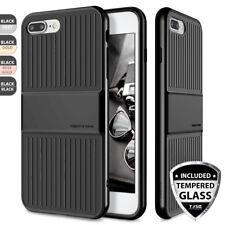 For iPhone 8 7 Plus SE 2020 Phone Case Travel Suitcase Design+Tempered Glass