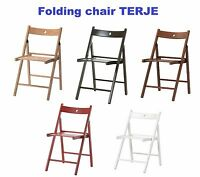 IKEA Easy Storage Folding Wood Chair TERJE Camping Outdoor Garden Office Dining