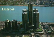 General Motors Renaissance Center & Marriott Hotel, Detroit Michigan -- Postcard