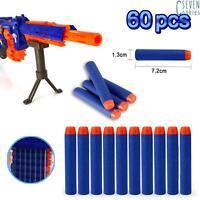 60pcs balle Fléchette pistolet mousse molle dards tête ronde pour Nerf N-Strike
