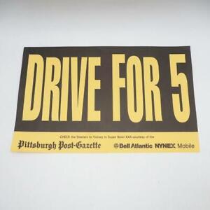 Vintage Pittsburgh Steelers Placard Super Bowl XXX 1995 1996