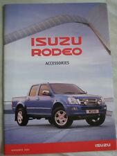 Isuzu Rodeo Accessories brochure Nov 2005 + price list