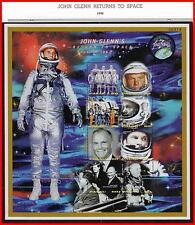 PALAU 1998 RETURN to SPACE / JOHN GLENN x2 M/S + 2 s/S MNH KENNEDY, USA