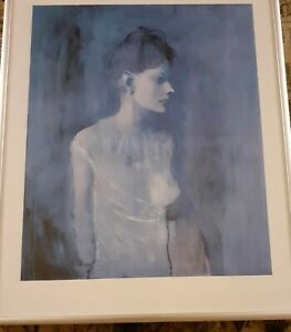 """Picasso Girl in a Chemise. c. 1905. Framed print in AMS frame 11 x 14"""""""