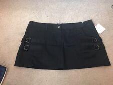 Sass & Bide 100% Cotton Black Mini Skirt-Size 30/USA 6-NWT