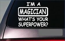 "Magician Superpower Sticker *G423* 8"" Vinyl Decal magic wand hat card trick cape"