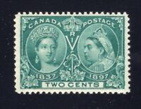 Canada Sc #52 (1897) 2c Green Diamond Jubilee VF NH