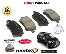 FOR NISSAN MICRA K13 1.2 2010-> NEW FRONT BRAKE DISC PADS SET