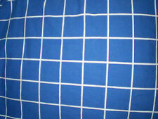 Vintage BLUE & WHITE SQUARE GEOMETRIC Fabric (60cm x 40cm)