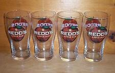 REDD'S APPLE ALE 4 TULIP STYLE BEER PINT GLASSES NEW