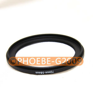 72mm-58mm 72-58 Step Down Filter Ring Stepping Adapter