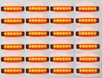 24 X 12v LED Giallo Indicatore Laterale Luce Rimorchio Camion Impermeabile Per