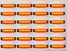 24 x 12V LED GIALLO INDICATORE LATERALE LUCE CARAVAN PLYMOUTH FORD PICCOLI