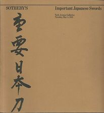 SOTHEBY'S Important Japanese Sword Fittings Armour Auction Catalog 1981