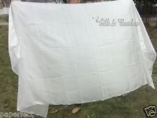 "1pc 3.3yd*45"" white belly dance silk veil, 5mm light paj silk, 2 sides stitched"