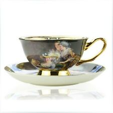 Porcelain tea/coffee cup and saucer designed in England